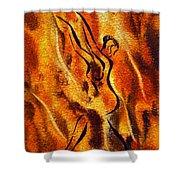 Dancing Fire Viii Shower Curtain