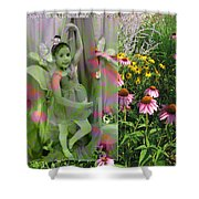 Dancing Girl In Flowers Shower Curtain
