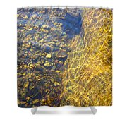 Dancing Lines And Stones Shower Curtain