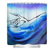 Dancing Water IIi Shower Curtain