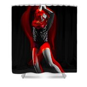 Dancing With Fire Shower Curtain