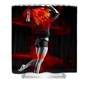 Dancing With My Hair On Fire Shower Curtain