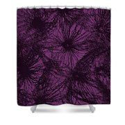 Dandelion Abstract Shower Curtain
