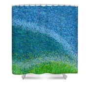Dandelions In The Mower Digital Painting Shower Curtain