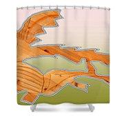 Dangerous Dinosaurs Shower Curtain