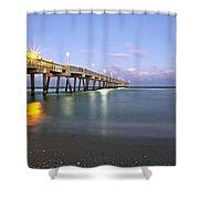 Dania Beach Pier Shower Curtain