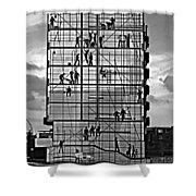 Danish Mural Monochrome Shower Curtain