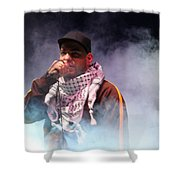 Danny Fresh Musical Concert At Manger Square Shower Curtain