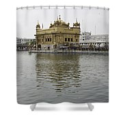 Darbar Sahib And Sarovar Inside The Golden Temple Shower Curtain