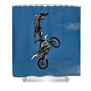 Daredevil Motorcyclist Shower Curtain