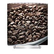 Dark Chocolate Chips Shower Curtain by Elena Elisseeva