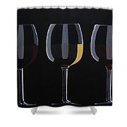 Dark Light Medium Shower Curtain