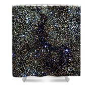 Dark Nebula, G11.11-0.12, Infrared Image Shower Curtain