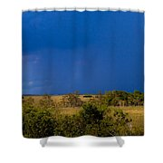 Dark Storm Over The Everglades Shower Curtain