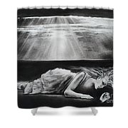 Darkness Falls Upon Me Shower Curtain