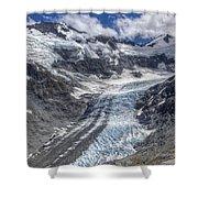 Dart Glacier Above Cascade Saddle Mount Shower Curtain