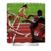 Dash To The Finish Shower Curtain