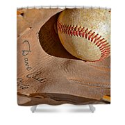 Dave Cash Mitt Shower Curtain by Bill Owen