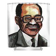 David Blackwell Shower Curtain