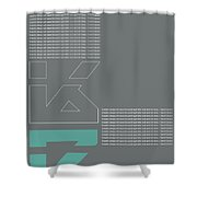 David Carson Poster Shower Curtain