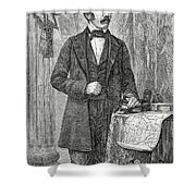 David Livingston, Scottish Missionary Shower Curtain by Science Source