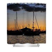 Davis Island Yacht Club Shower Curtain