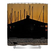 Davis Islands Yacht Club At Sunset Shower Curtain
