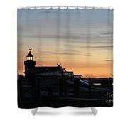 Dawn At Saybrook Dock Shower Curtain