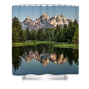 Dawn At Schwabacher Landing Shower Curtain