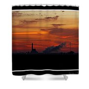 Dawn At The Power Plant Shower Curtain