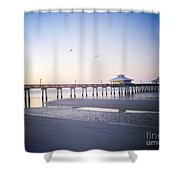 Dawn Breaking Vanilla Pop Shower Curtain