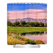 Dawn On The Golf Course Shower Curtain