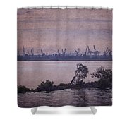 Dawn On The River Neva In Russia Shower Curtain