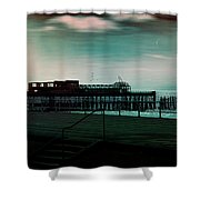 Dawn On The Seafront At Hastings Shower Curtain