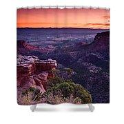Dawn Over Fruita Shower Curtain