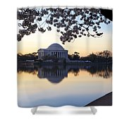 Dawn Over Jefferson Memorial Shower Curtain