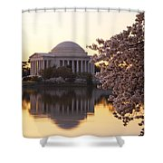 Dawn Over The Jefferson Memorial Shower Curtain
