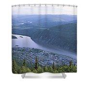 Dawson City And The Yukon River Shower Curtain
