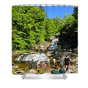 Day At Kent Falls State Park Shower Curtain