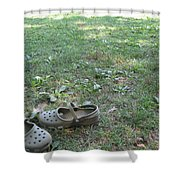 Day At The Lake Shower Curtain