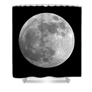 Day Before The Full Moon Shower Curtain