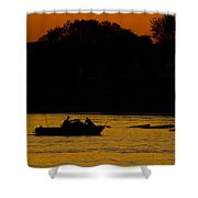 Day Of Fishing Is Over Shower Curtain