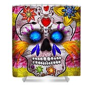 Day Of The Dead - Death Mask Shower Curtain