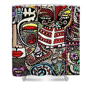 Day Of The Dead Cats Shower Curtain