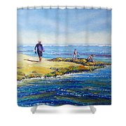 Day Out At Coloundra Beach Queensland2 Shower Curtain