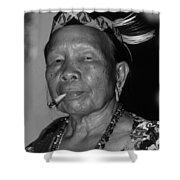 Dayak Woman Shower Curtain