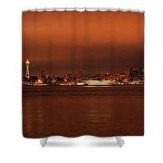 Daybreak Ferry Shower Curtain