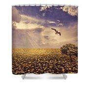 Daydream Shower Curtain by Lourry Legarde
