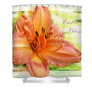 Daylily Greeting Card Easter Shower Curtain