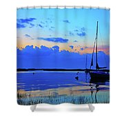 Day's End Rock Harbor Shower Curtain